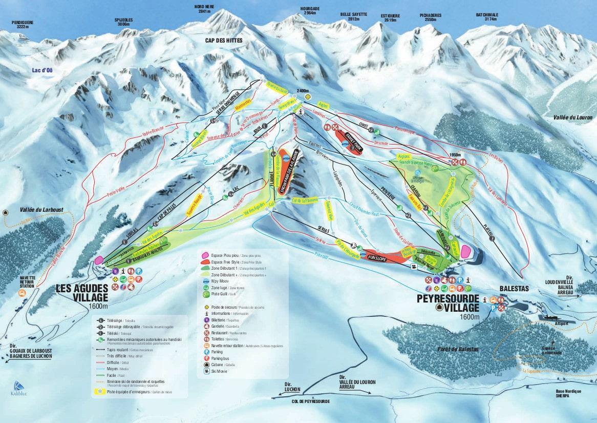 Peyragudes Piste / Trail Map