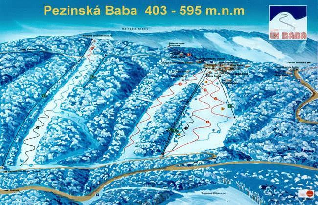 Pezinská Baba Piste / Trail Map
