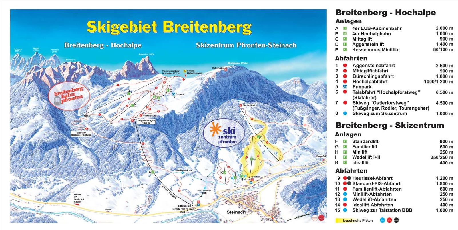 Pfronten Piste / Trail Map