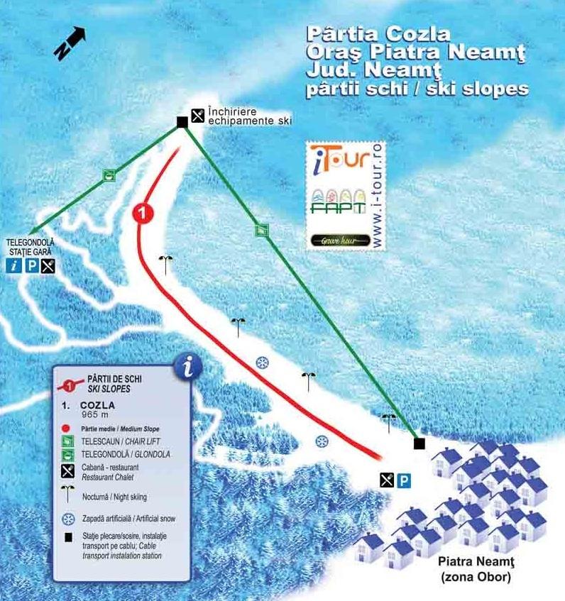 Piatra Neamt Piste / Trail Map