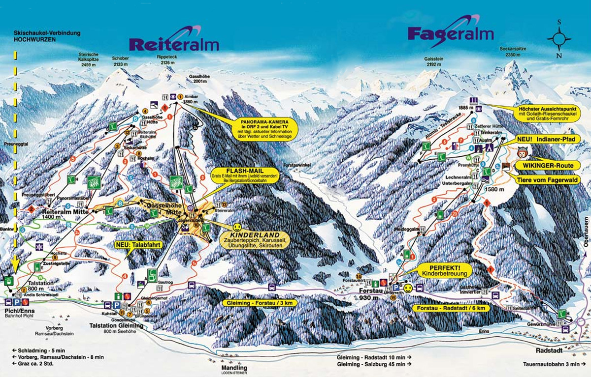 Reiteralm Piste / Trail Map
