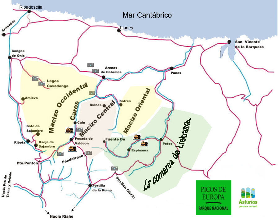 Picos De Europa Piste Map / Trail Map