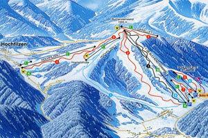 Pillersee-Hochfilzen/Buchensteinwand Piste / Trail Map