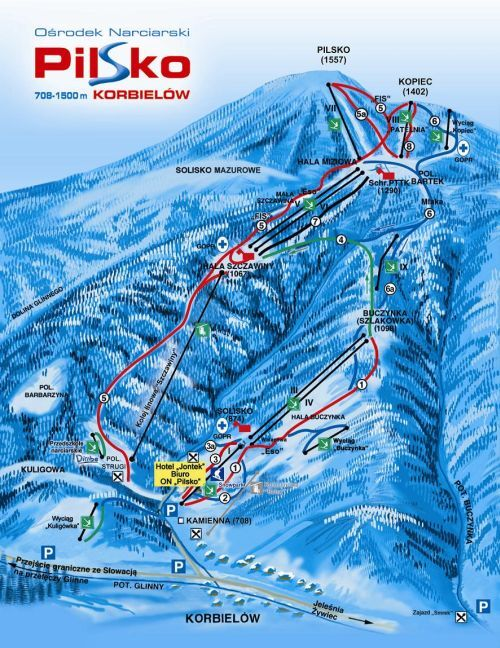 Pilsko Piste / Trail Map