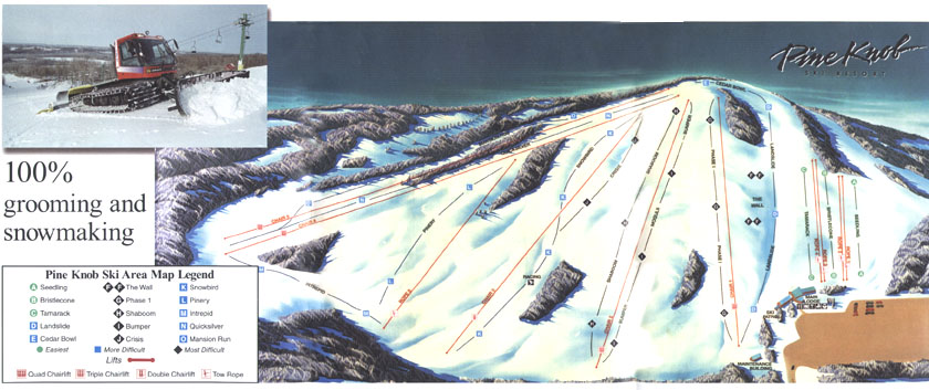 Pine Knob Piste / Trail Map