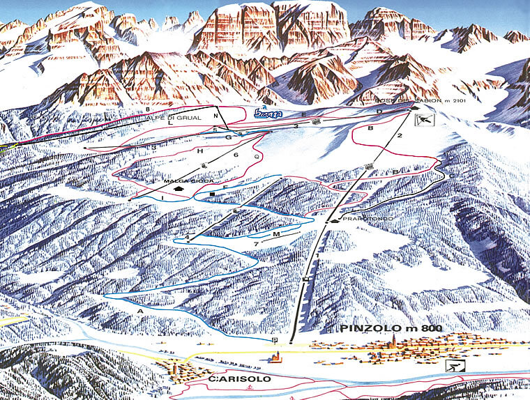 Pinzolo Piste Map Trail Map