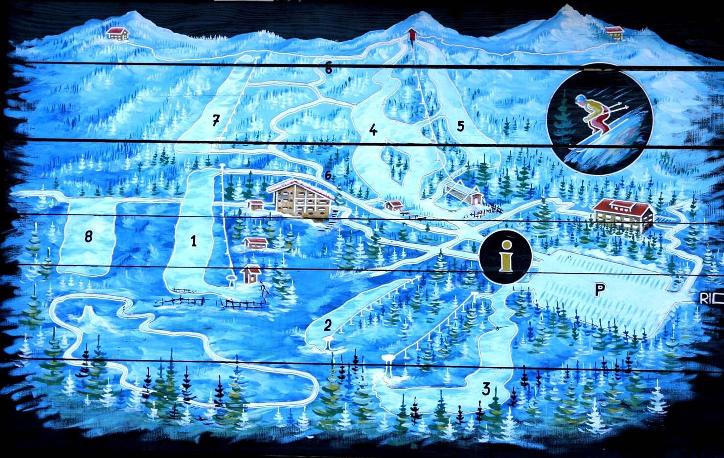 Platak Piste / Trail Map