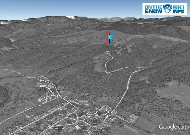Podkonice - Pleše Piste / Trail Map