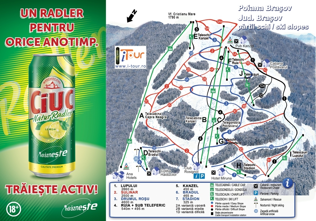 Polana Piste / Trail Map