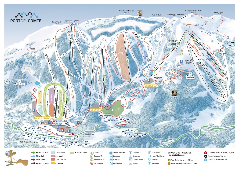 Port Del Comte Piste / Trail Map