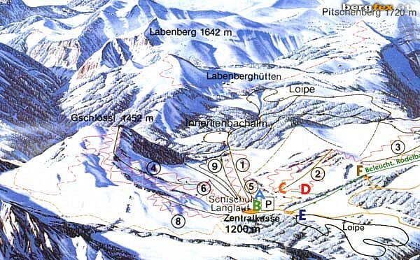 Strobl at the Wolfgangsee/Postalm Piste / Trail Map