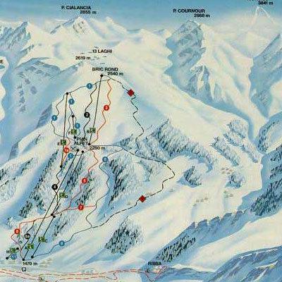 Prali Piste / Trail Map