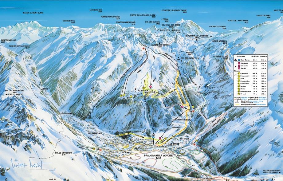 Pralognan La Vanoise Piste / Trail Map