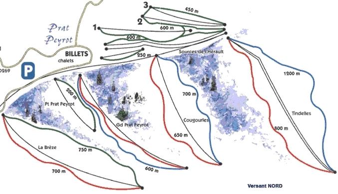 Prat Peyrot / Mont Aigoual Piste / Trail Map