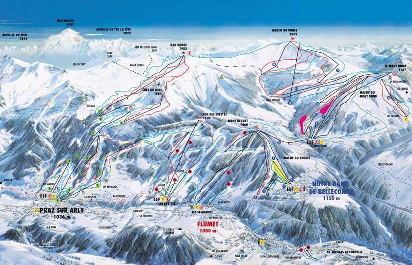 Praz Sur Arly Piste / Trail Map