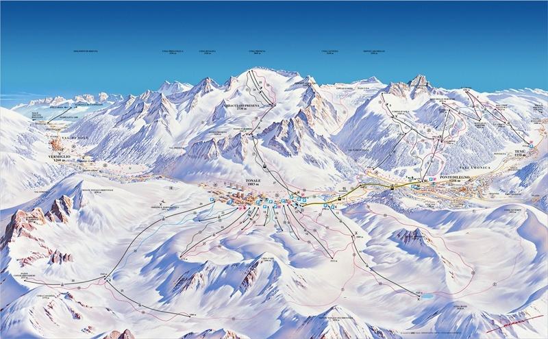 Presena Glacier Piste / Trail Map