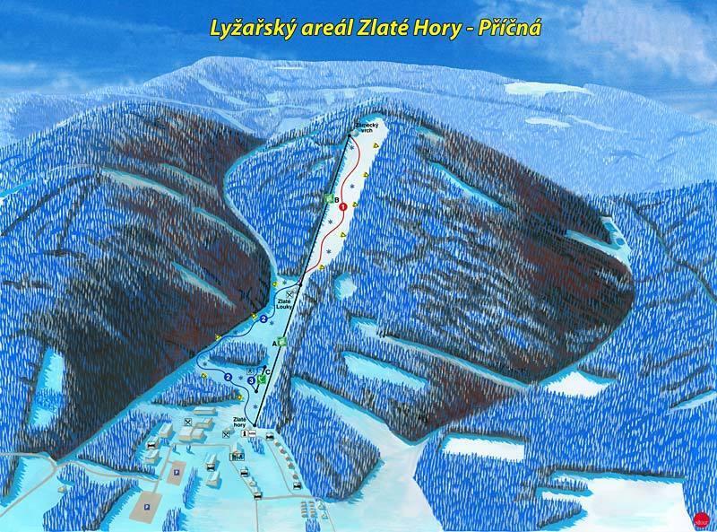 Příčná Piste / Trail Map