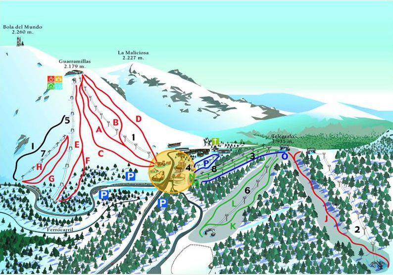 Puerto de Navacerrada Piste / Trail Map