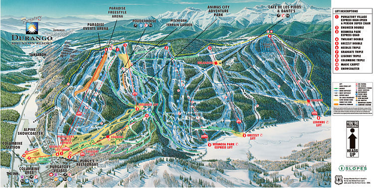 Purgatory Ski Resort Guide Location Map Purgatory Ski Holiday