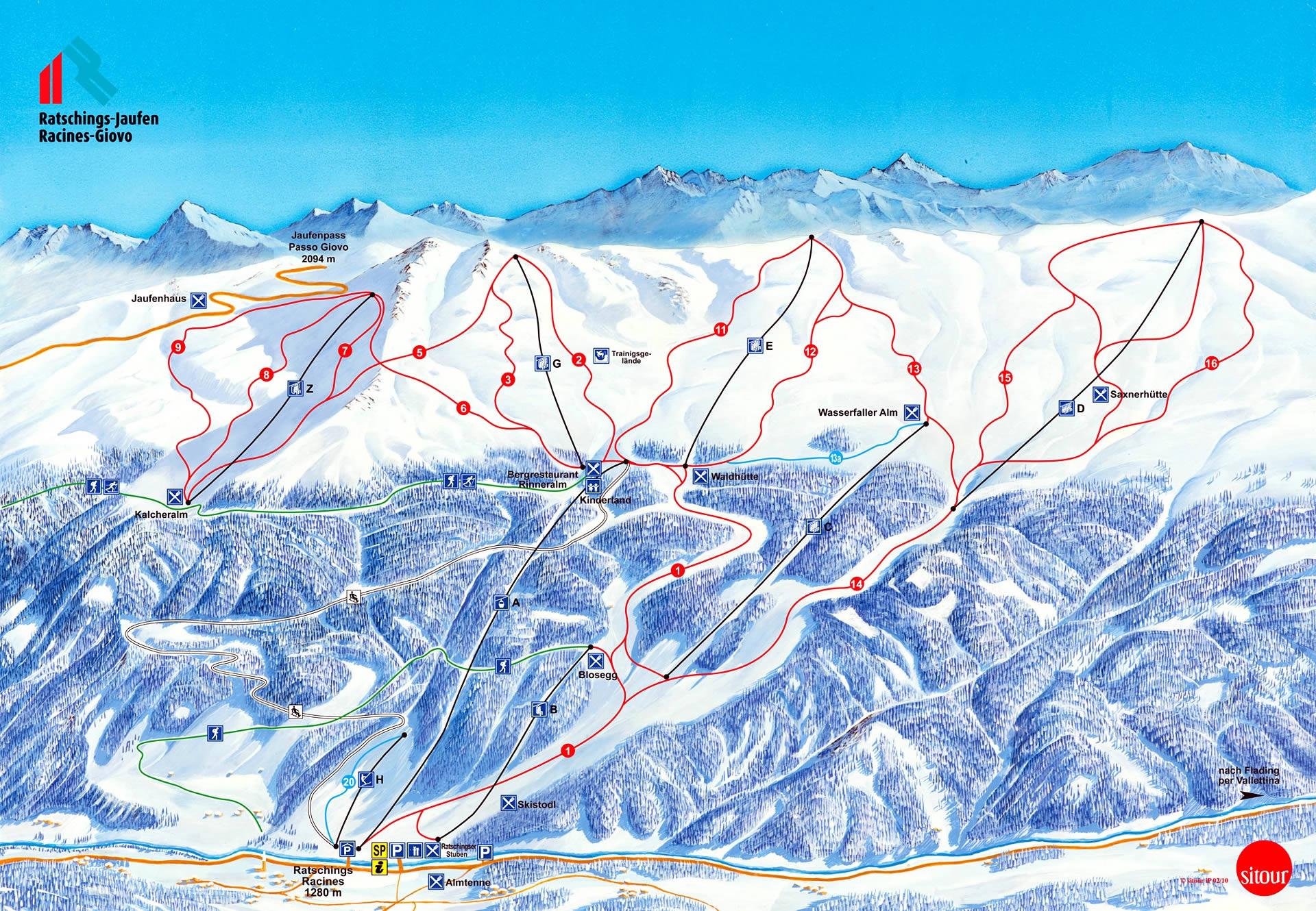 Racines Piste / Trail Map