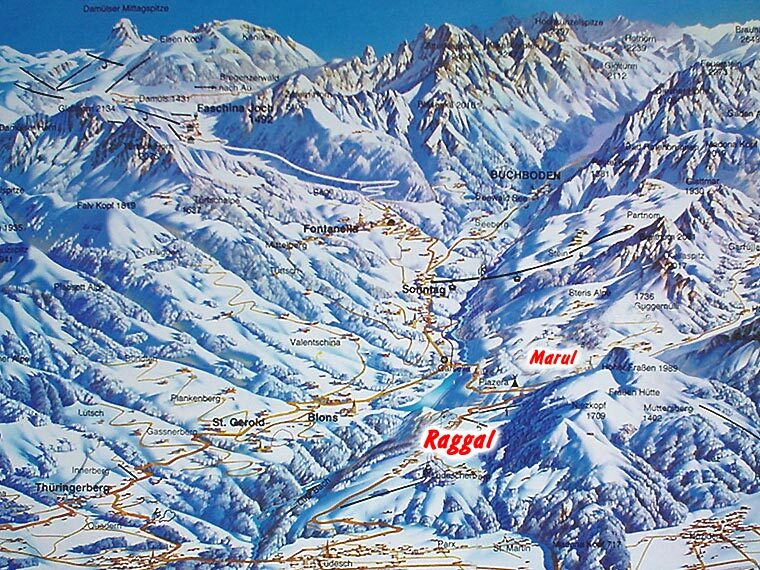 Raggal/Marul Piste / Trail Map