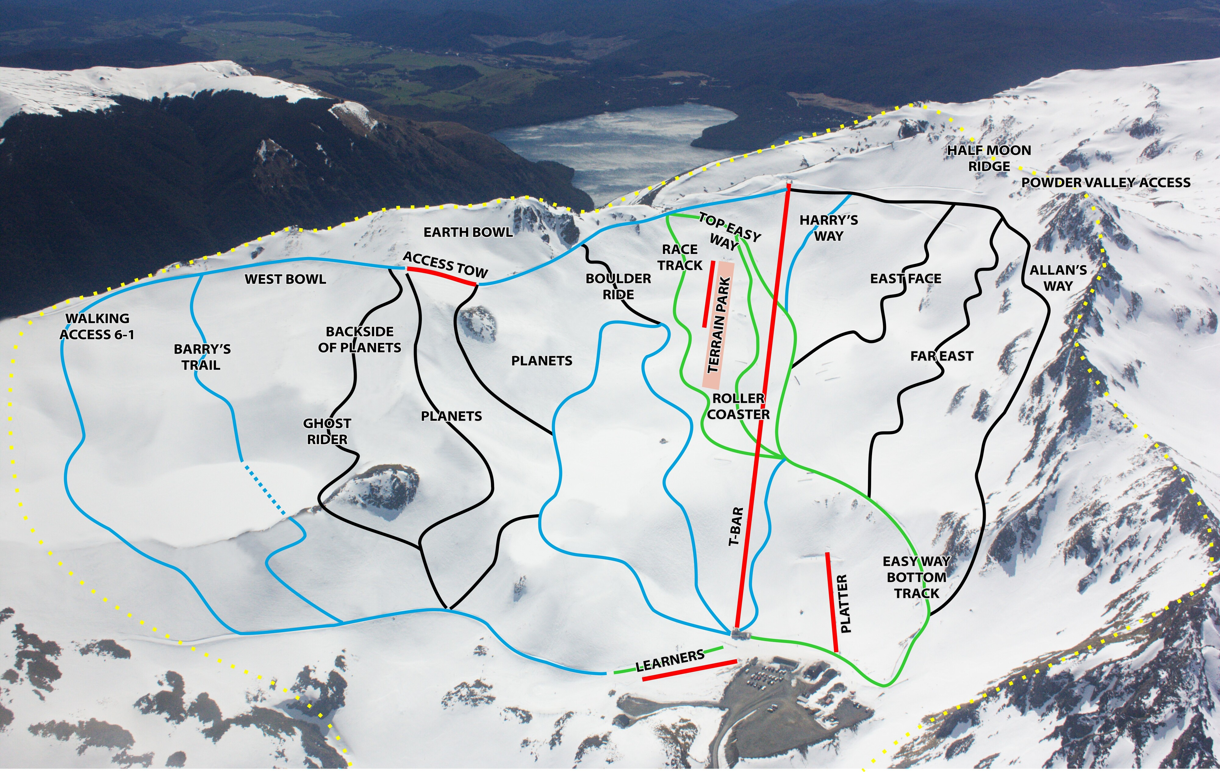 Rainbow Piste / Trail Map