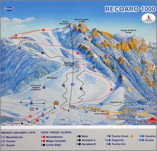 Recoaro Terme Piste / Trail Map