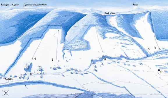 Regetovka Piste / Trail Map