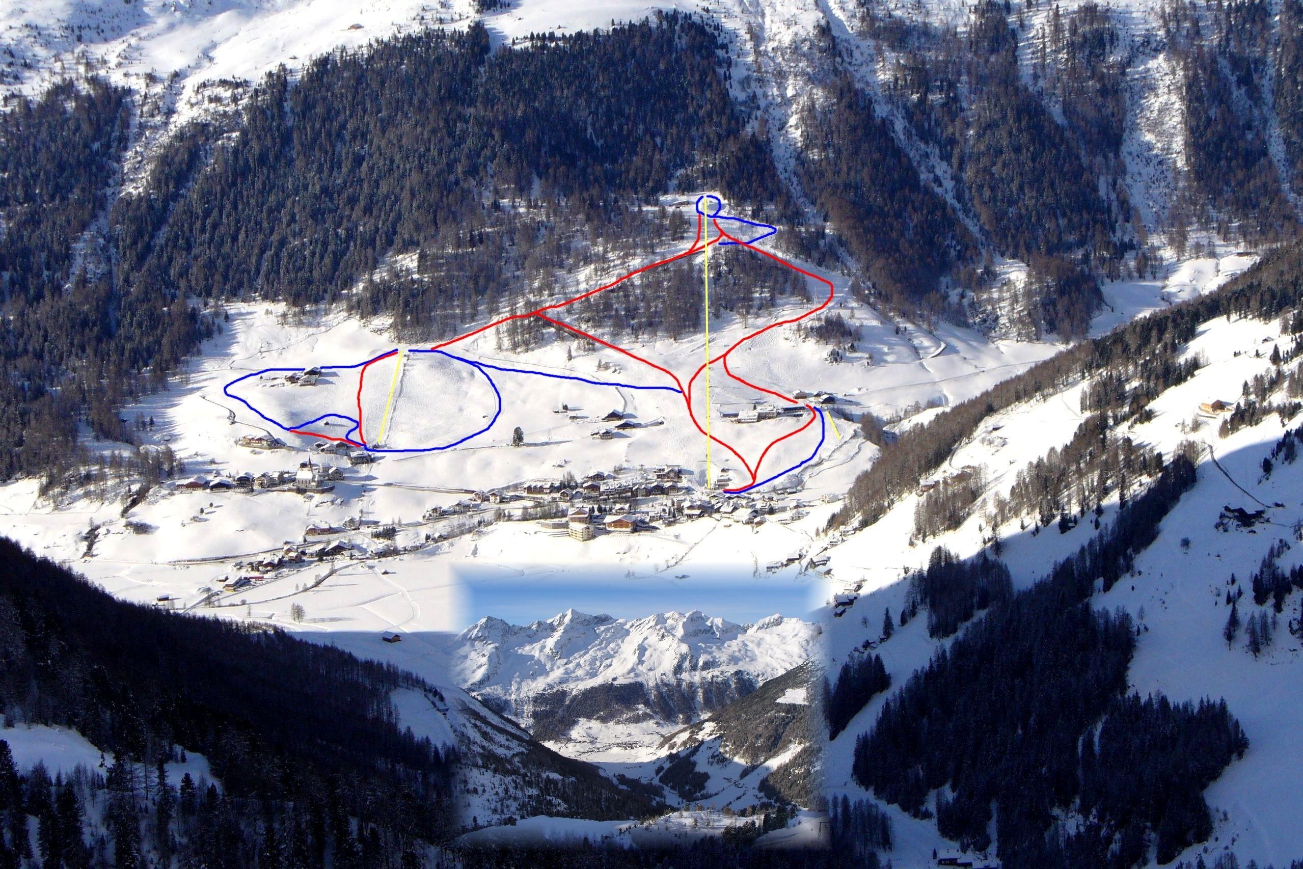 Rein in Taufers Piste / Trail Map