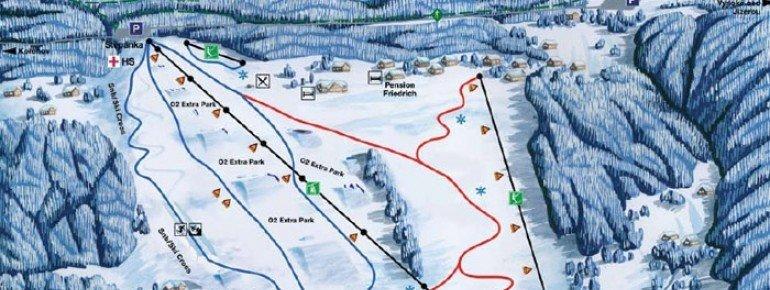 Kořenov - Rejdice Piste / Trail Map