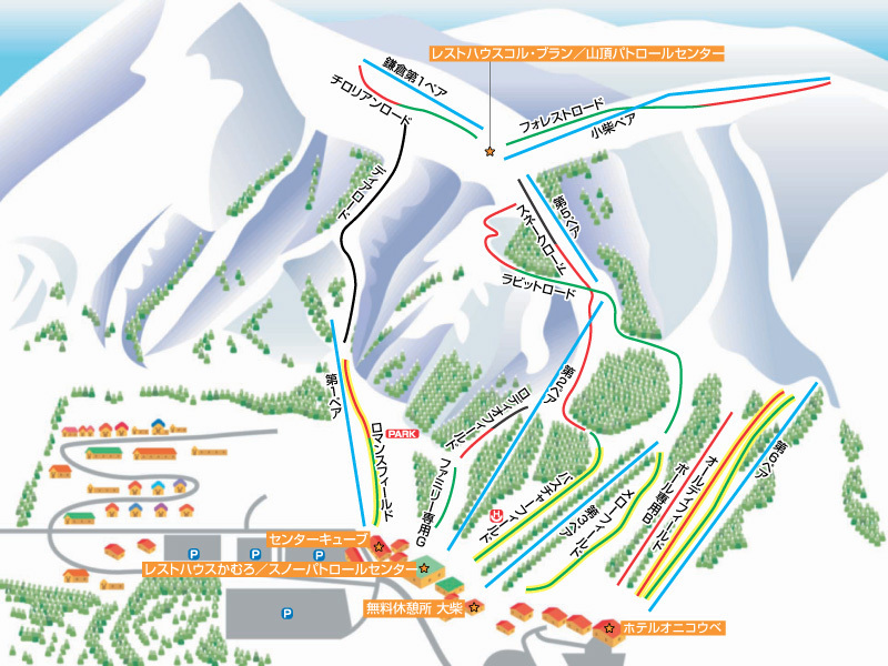 Resort Park Onikobe Piste / Trail Map
