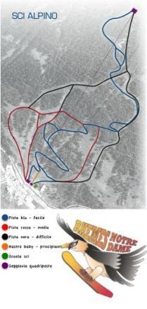 Rhemes-Notre-Dame Piste / Trail Map