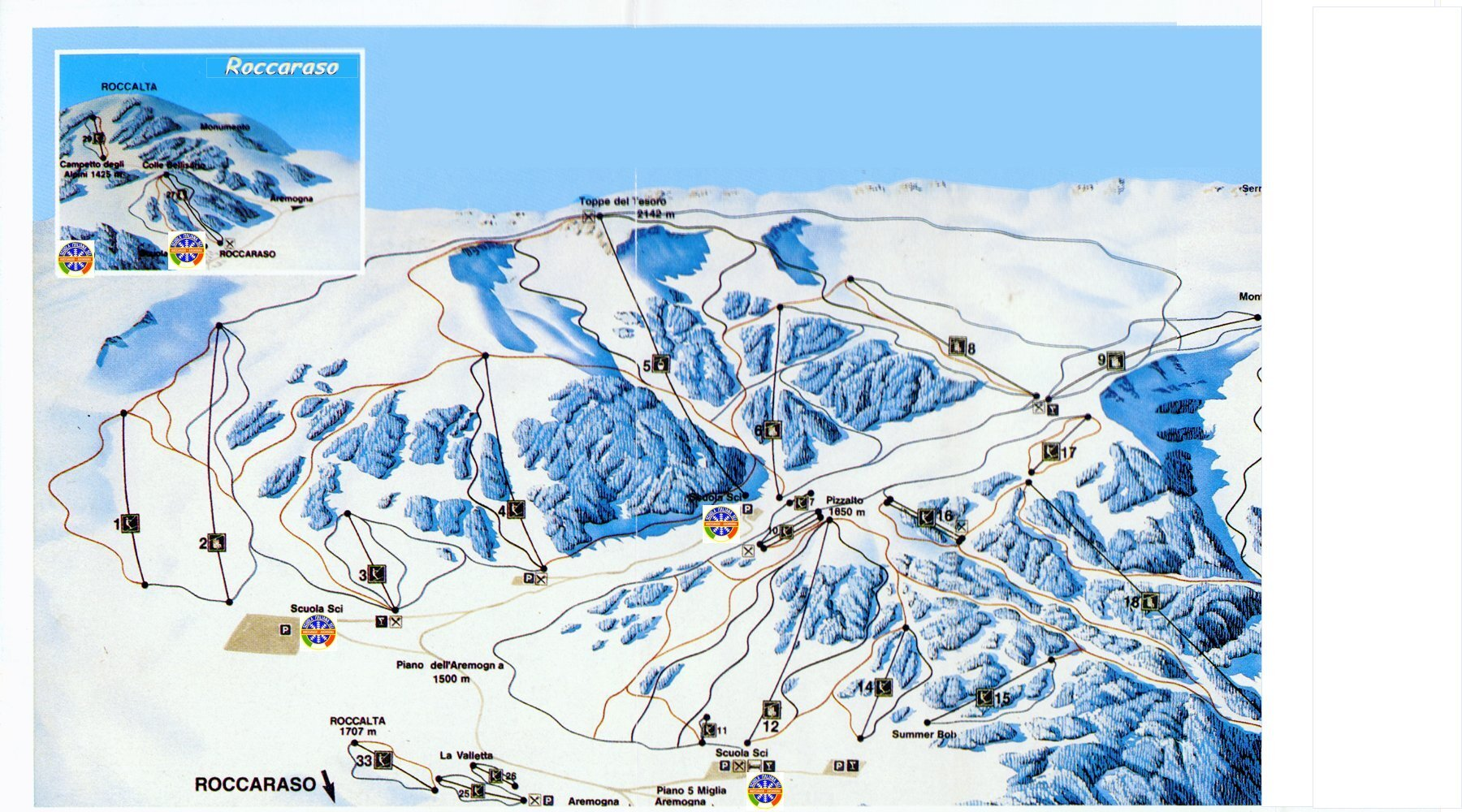 Roccaraso Piste / Trail Map