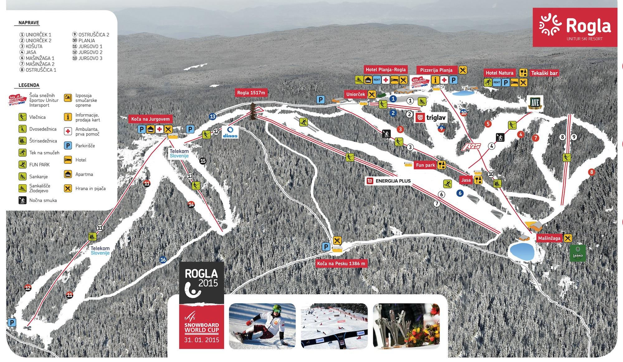 Rogla Piste / Trail Map