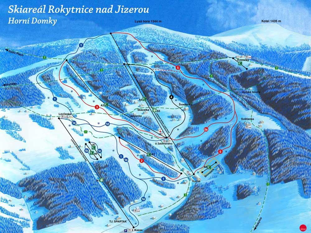 Rokytnice nad Jizerou Piste / Trail Map