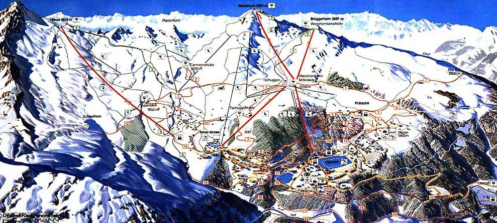 Rothenthurm Piste / Trail Map