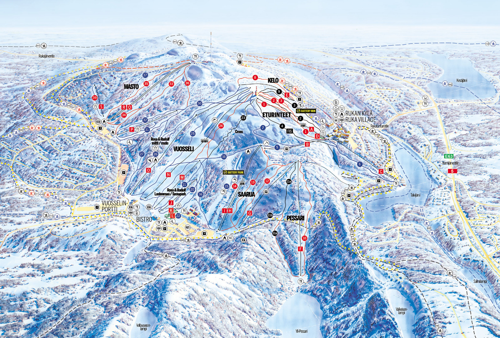 Ruka Piste / Trail Map