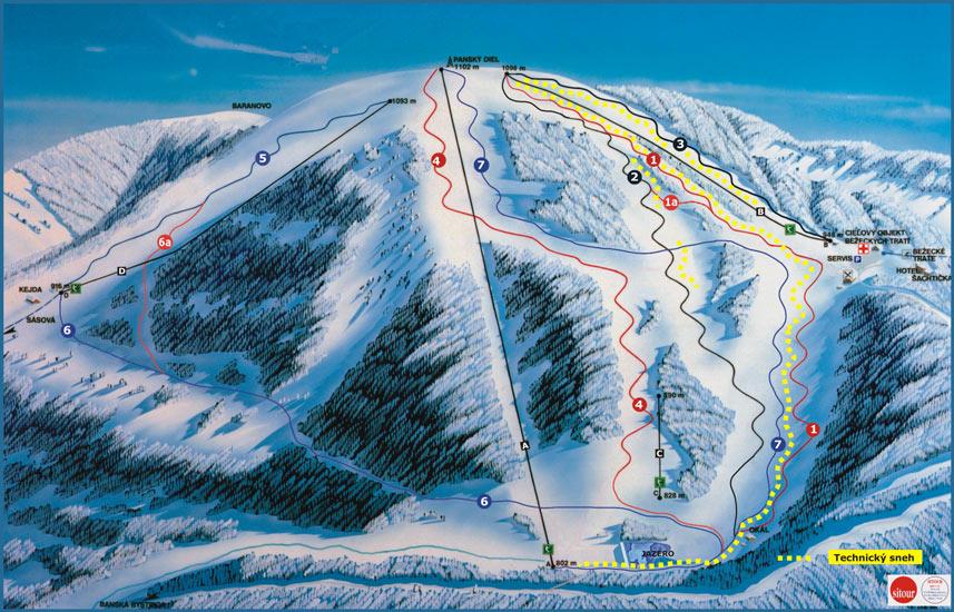 Šachtičky Piste / Trail Map