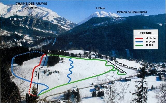 Saint -Jean de Sixt Piste / Trail Map
