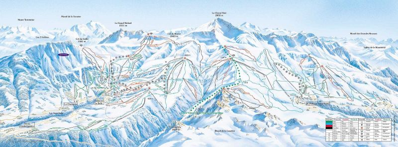 Saint François Longchamp Piste / Trail Map