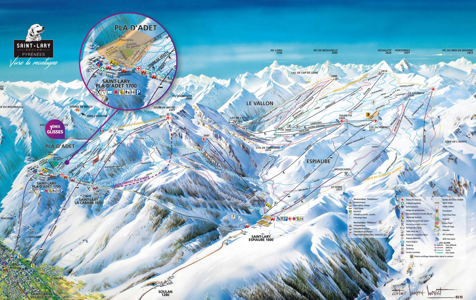 Saint Lary Soulan Piste / Trail Map