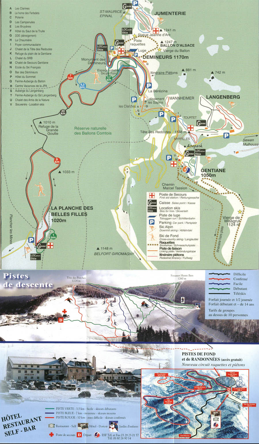 Saint Maurice Sur Moselle Piste / Trail Map