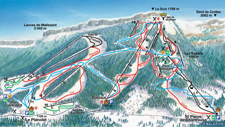 Saint Pierre De Chartreuse Piste / Trail Map