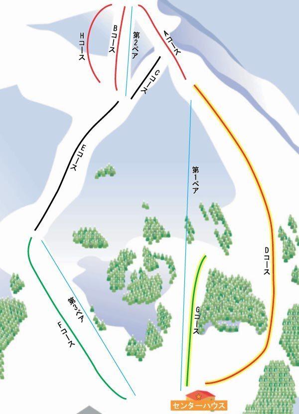 Sakae Club Piste / Trail Map