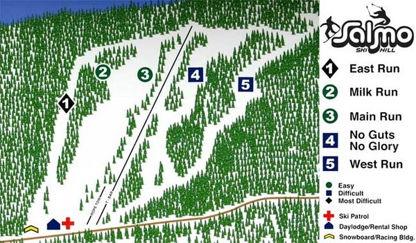Salmo Piste / Trail Map
