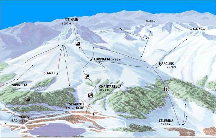 Samedan/Engadin Piste / Trail Map