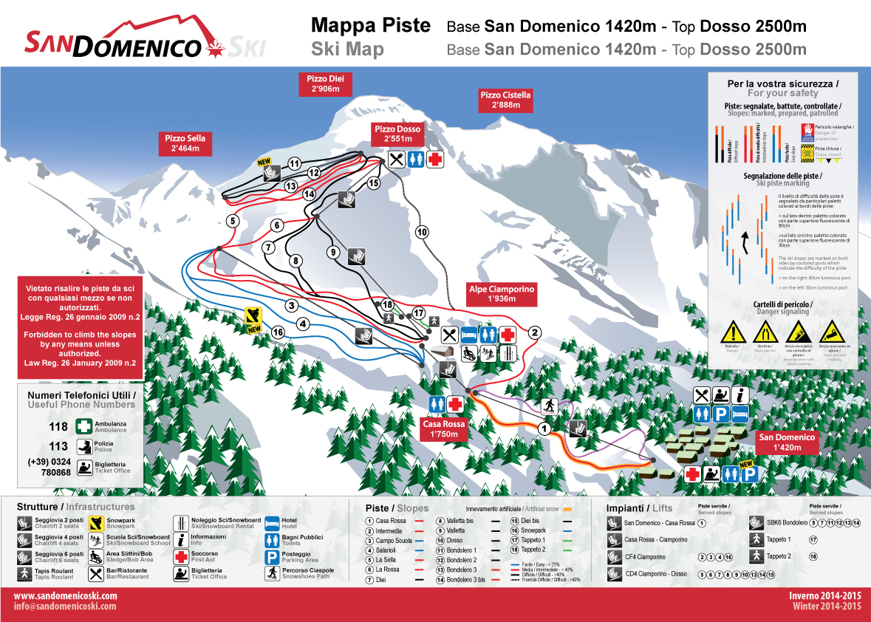San Domenico Piste / Trail Map