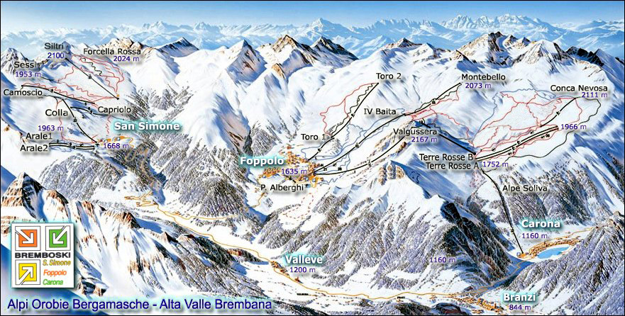 San Simone Piste / Trail Map