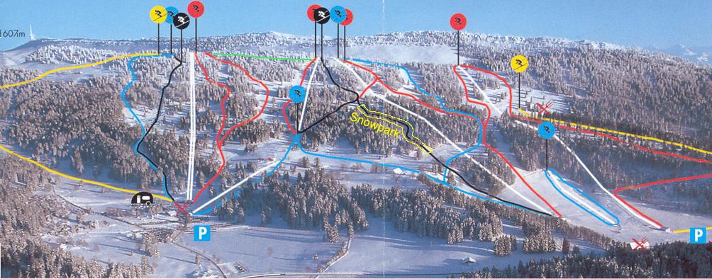 Savagnières - Bugnenets Piste / Trail Map
