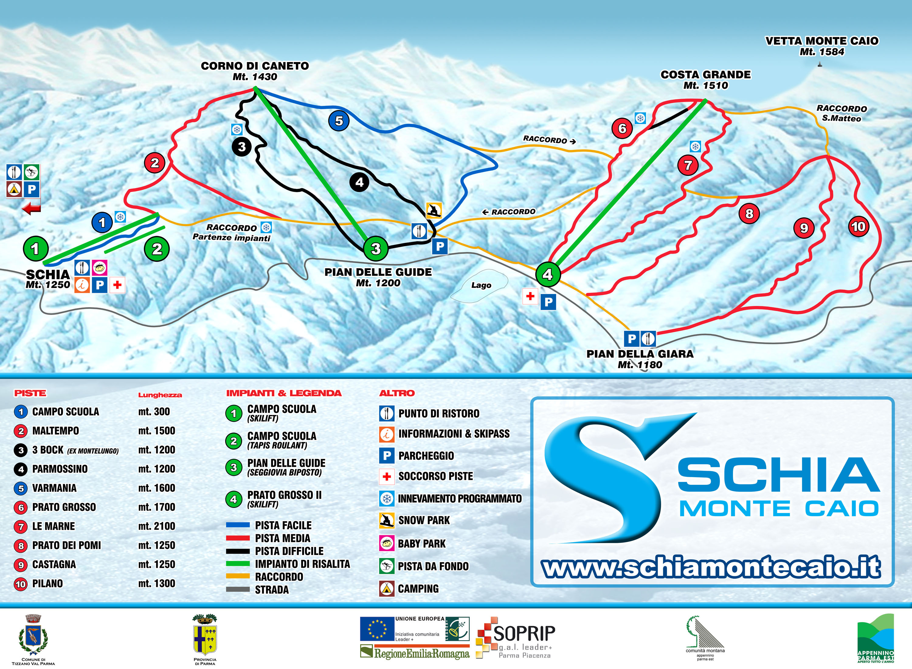 Schia Piste / Trail Map